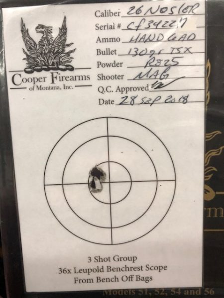 Cooper Firearms Model 52 Timberline 26 Nosler