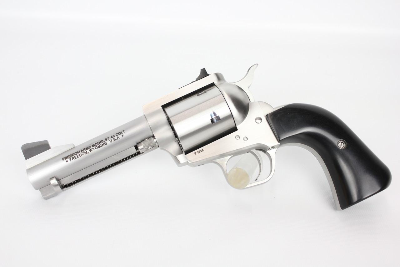 "Freedom Arms Model 97 Premier Grade 45 Colt 4.25"" Upgraded"