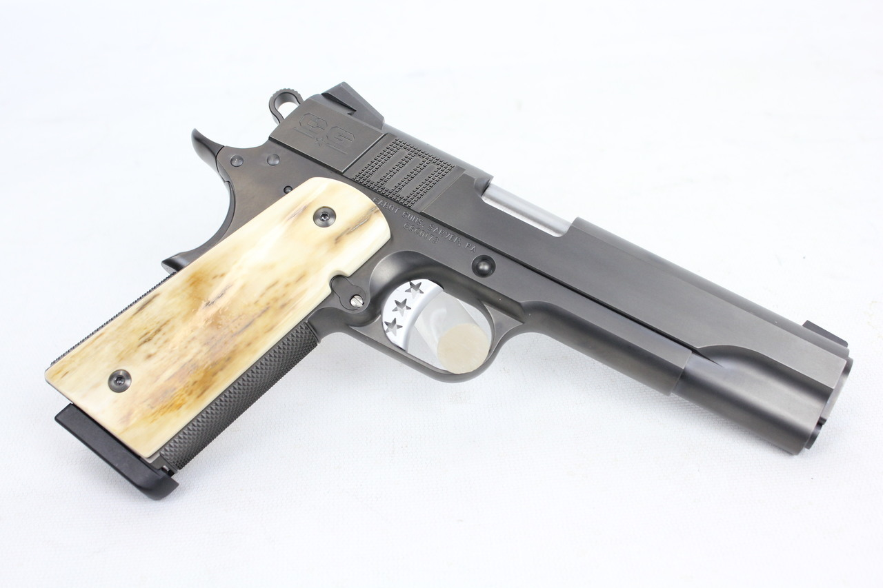 Cabot Guns S100 Government 1911 Style 45ACP DLC Finish w/ Mammoth Ivory  Grips