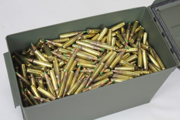 Federal 5.56 Nato 1000 Rounds Green Tip XM855 62GR 556