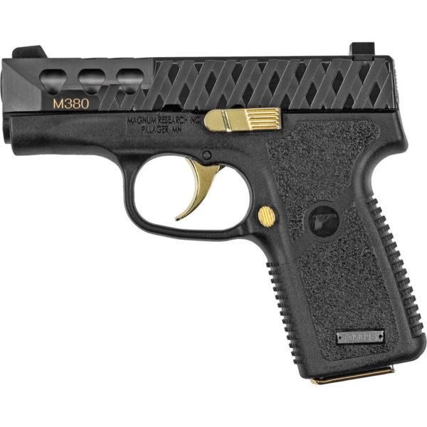 Magnum Research M380 Black w/ Gold